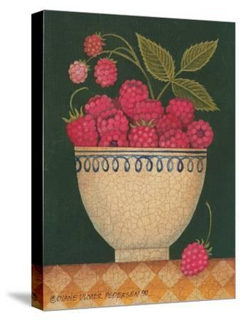 Cup O' Raspberries-Diane Pedersen-Stretched Canvas Print