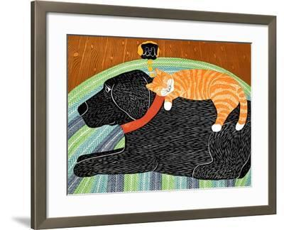 Catnap-Striped Cat Black-Stephen Huneck-Framed Giclee Print