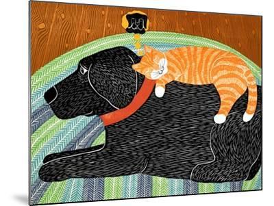 Catnap-Striped Cat Black-Stephen Huneck-Mounted Giclee Print