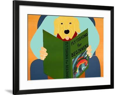 Fly Fishing For Beginners Yellow-Stephen Huneck-Framed Giclee Print