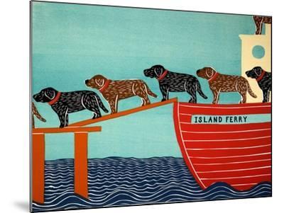 Island Ferry Black And Choc-Stephen Huneck-Mounted Giclee Print