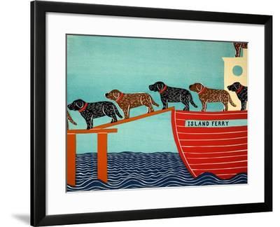 Island Ferry Black And Choc-Stephen Huneck-Framed Giclee Print