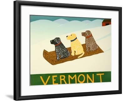 Vermont Sled Dogs-Stephen Huneck-Framed Giclee Print