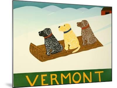 Vermont Sled Dogs-Stephen Huneck-Mounted Giclee Print