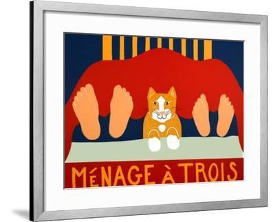 Menage A Trois Cat-Stephen Huneck-Framed Giclee Print