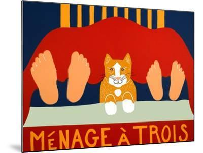 Menage A Trois Cat-Stephen Huneck-Mounted Giclee Print