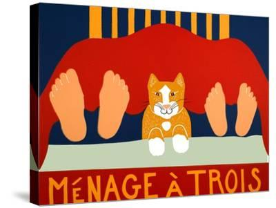 Menage A Trois Cat-Stephen Huneck-Stretched Canvas Print