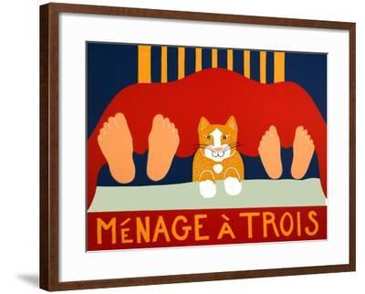 Menage A Trois Orange Cat-Stephen Huneck-Framed Giclee Print