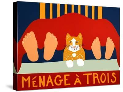 Menage A Trois Orange Cat-Stephen Huneck-Stretched Canvas Print