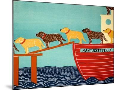 Island Ferry Nan Choc Yellow-Stephen Huneck-Mounted Giclee Print