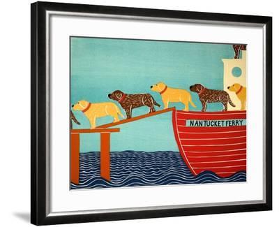 Island Ferry Nan Choc Yellow-Stephen Huneck-Framed Giclee Print