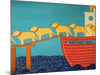 Island Ferry Nan Yellow-Stephen Huneck-Mounted Giclee Print