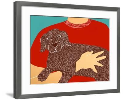 Dogs Can Heal A Broken Heart Choc-Stephen Huneck-Framed Giclee Print