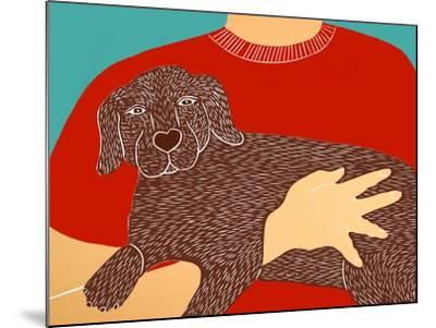 Dogs Can Heal A Broken Heart Choc-Stephen Huneck-Mounted Giclee Print
