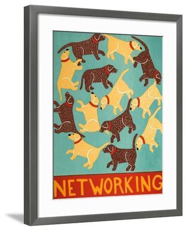 Networking Choc-Stephen Huneck-Framed Giclee Print