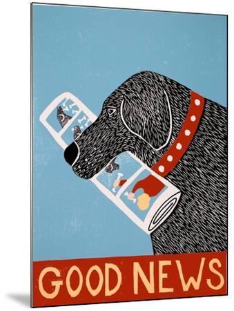 Good News Dog Black-Stephen Huneck-Mounted Giclee Print