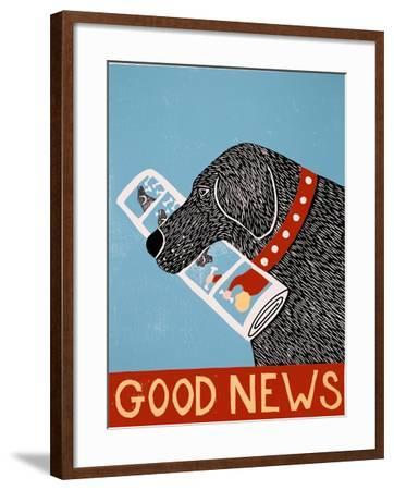 Good News Dog Black-Stephen Huneck-Framed Giclee Print