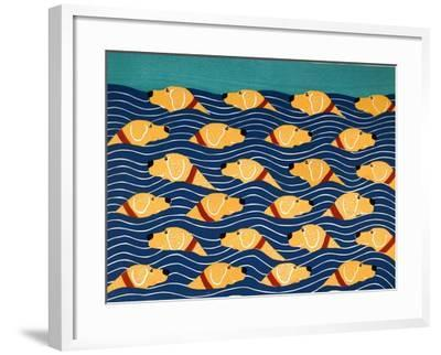 Beach Cover Sheet Yellow Yellow-Stephen Huneck-Framed Giclee Print