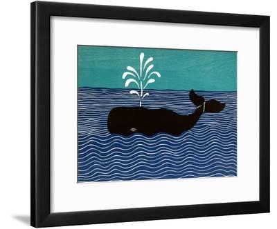 The Whale-Stephen Huneck-Framed Giclee Print
