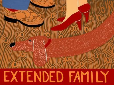 Extended Family-Red-Stephen Huneck-Stretched Canvas Print