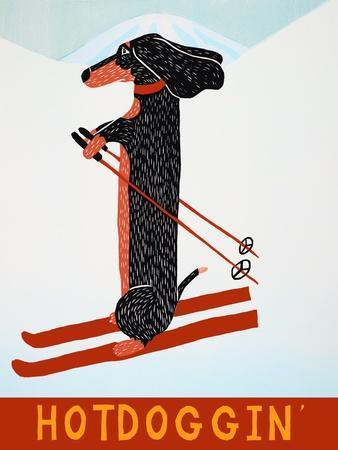 Hotdoggin-Stephen Huneck-Framed Giclee Print
