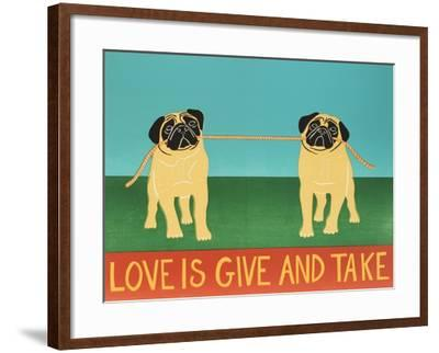 Love Is Give And Take  Pugs-Stephen Huneck-Framed Giclee Print