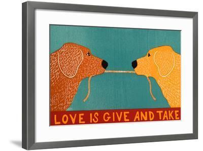 Love Is Gold Red Goldens-Stephen Huneck-Framed Giclee Print