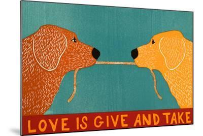Love Is Gold Red Goldens-Stephen Huneck-Mounted Giclee Print