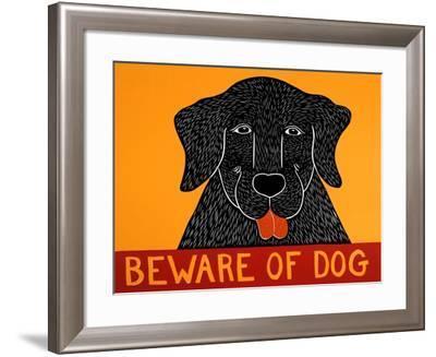 Beware Of Dog Black-Stephen Huneck-Framed Giclee Print