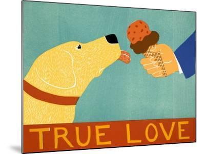 True Love Yellow-Stephen Huneck-Mounted Giclee Print