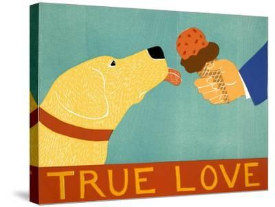 True Love Yellow-Stephen Huneck-Stretched Canvas Print