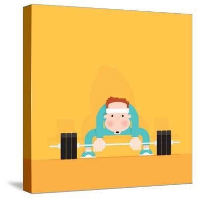 Gym Junkie-Nick Diggory-Stretched Canvas Print