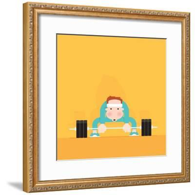 Gym Junkie-Nick Diggory-Framed Giclee Print