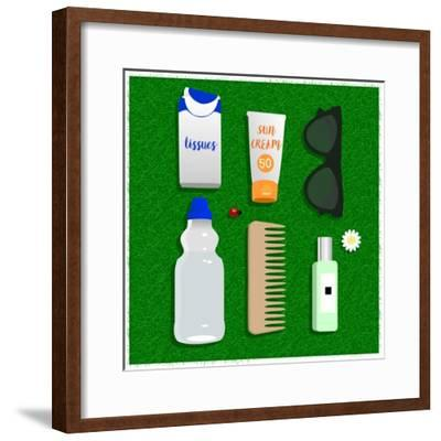 Summer Essentials-Claire Huntley-Framed Giclee Print