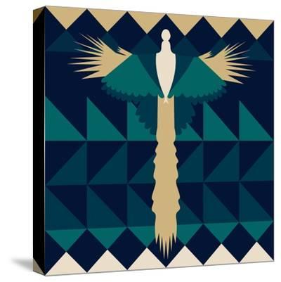 Aztec Peacock-Claire Huntley-Stretched Canvas Print