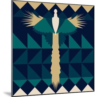 Aztec Peacock-Claire Huntley-Mounted Giclee Print