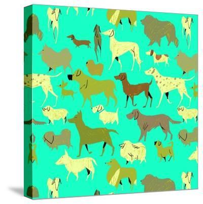 Dogs!-A Richard Allen-Stretched Canvas Print