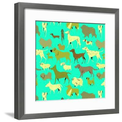 Dogs!-A Richard Allen-Framed Giclee Print