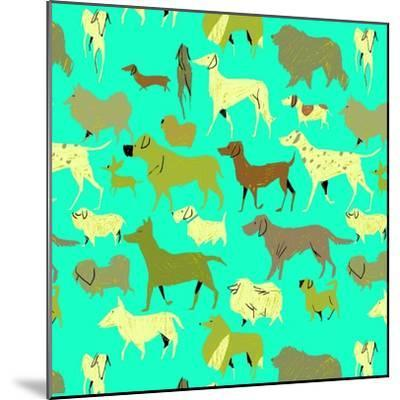 Dogs!-A Richard Allen-Mounted Giclee Print