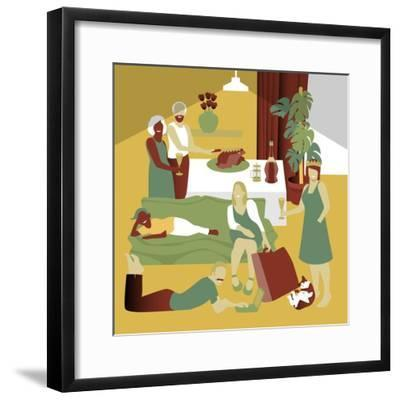 The Get Together-Claire Huntley-Framed Giclee Print