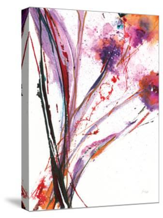 Floral Explosion III on White-Jan Griggs-Stretched Canvas Print
