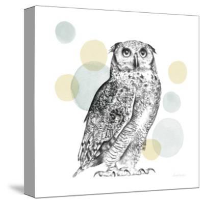 Sketchbook Lodge Owl Neutral-Lamai McCartan-Stretched Canvas Print