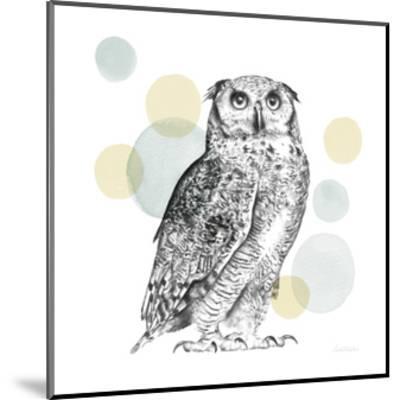 Sketchbook Lodge Owl Neutral-Lamai McCartan-Mounted Art Print