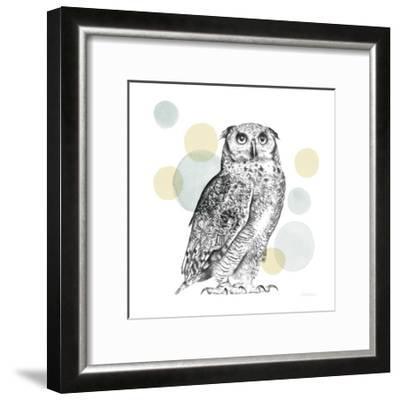 Sketchbook Lodge Owl Neutral-Lamai McCartan-Framed Art Print