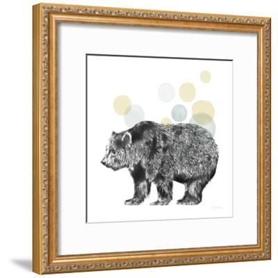 Sketchbook Lodge Bear Neutral-Lamai McCartan-Framed Art Print