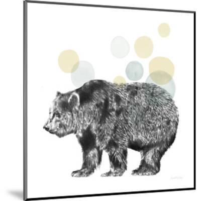 Sketchbook Lodge Bear Neutral-Lamai McCartan-Mounted Art Print