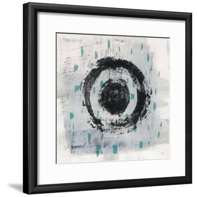 Zen Circle II Crop with Teal-Melissa Averinos-Framed Art Print