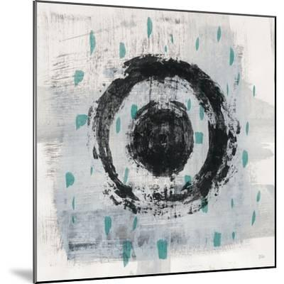 Zen Circle II Crop with Teal-Melissa Averinos-Mounted Art Print