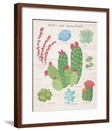 Succulent and Cacti Chart IV on Wood-Wild Apple Portfolio-Framed Art Print