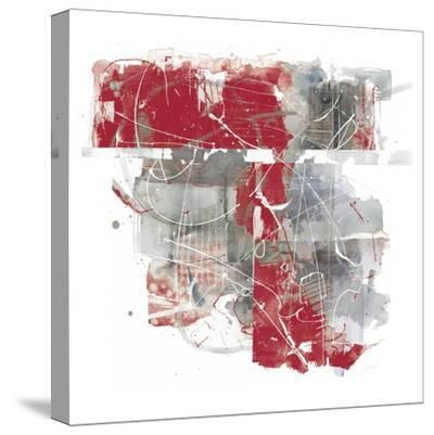 Moving In and Out of Traffic II Red Grey-Mike Schick-Stretched Canvas Print